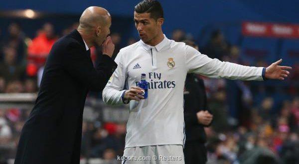زين الدين زيدان يوجه رسالة لكريستيانو رونالدو بعد مباراة إشبيلية