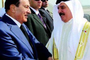 "ملك البحرين يزور ""مبارك"" فى منزله"