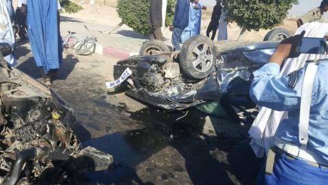 عاجل جريحان في حادث سير قرب المطار (فيديو + صور)
